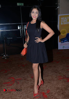 Actress Madhu Shalini Pictures in Black Short Dress at Well Care Health Card Launch  0013.jpg
