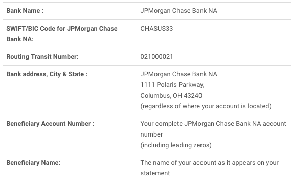 Jp Morgan Wiring Instructions - Www.casei.store • on chase bank account receipts, chase check template, chase bank interior,