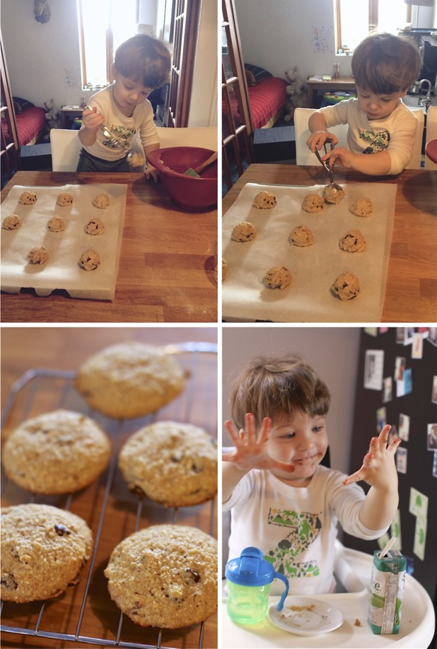 Making cookies with your toddler