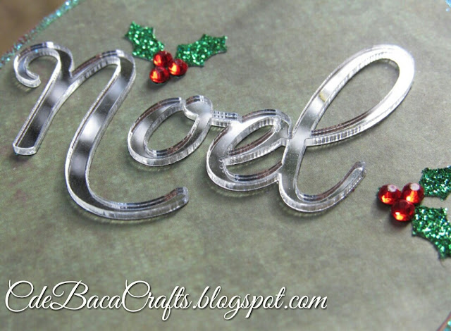 Handmade decorative Christmas gift tag made by CdeBaca Crafts.