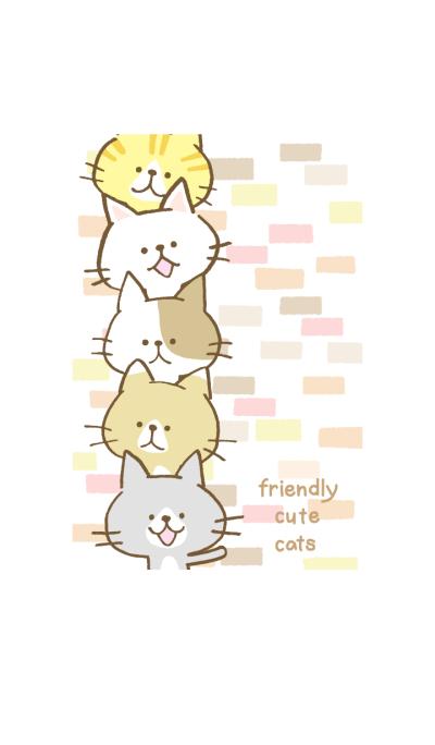 friendly cute cats