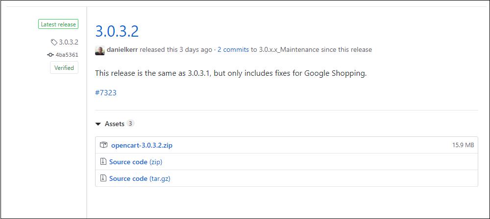Phát hành Opencart 3.0.3.2 fix/googleshopping