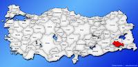 Siirt ilinin Türkiye haritasında gösterimi