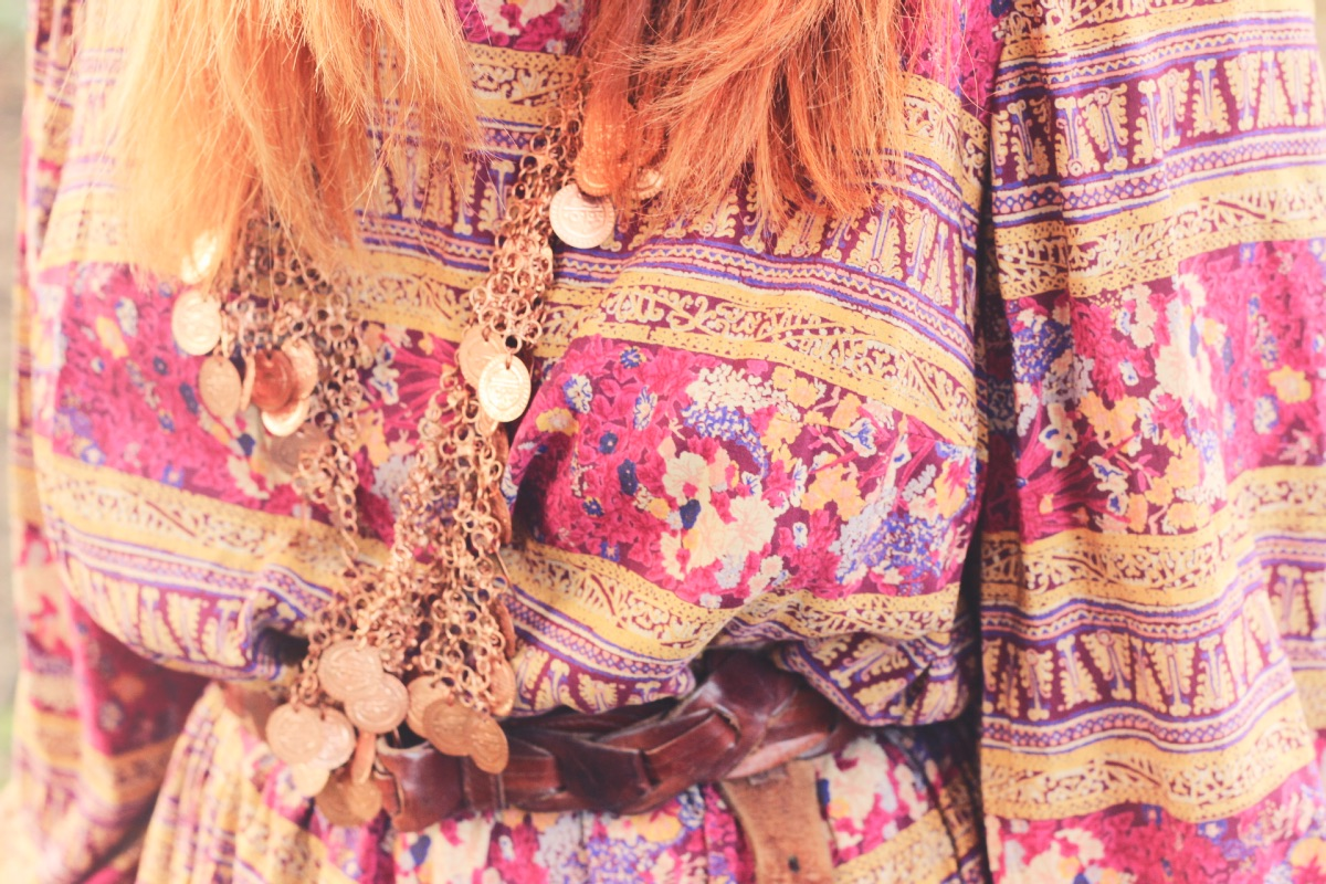 Frolicking With Clemtine Vintage 70's Outfit Red Hair Fashion Blogger