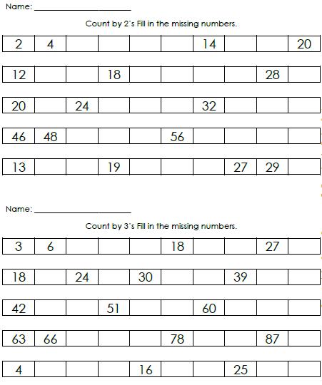 teacher 39 s take out skip counting booklet freebie. Black Bedroom Furniture Sets. Home Design Ideas