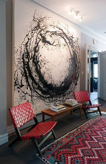 Interior design large wall art