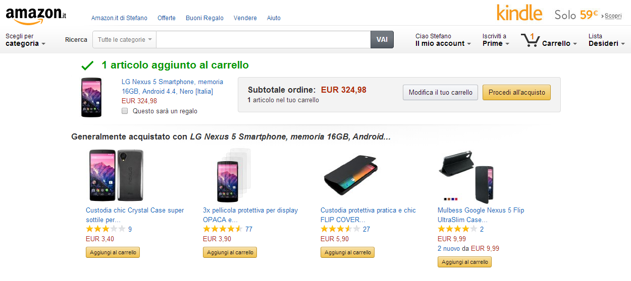 come acquistare cose su amazon con slidejoy