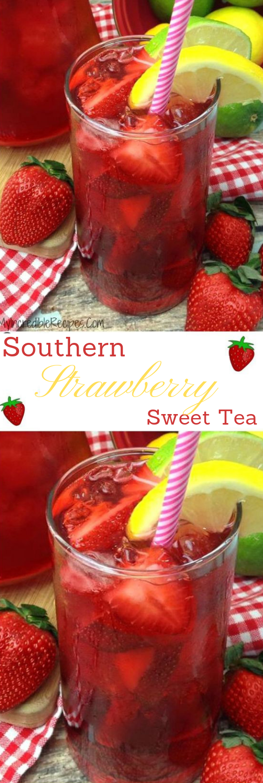 Southern Strawberry Sweet Tea #Strawberry #healthydrink