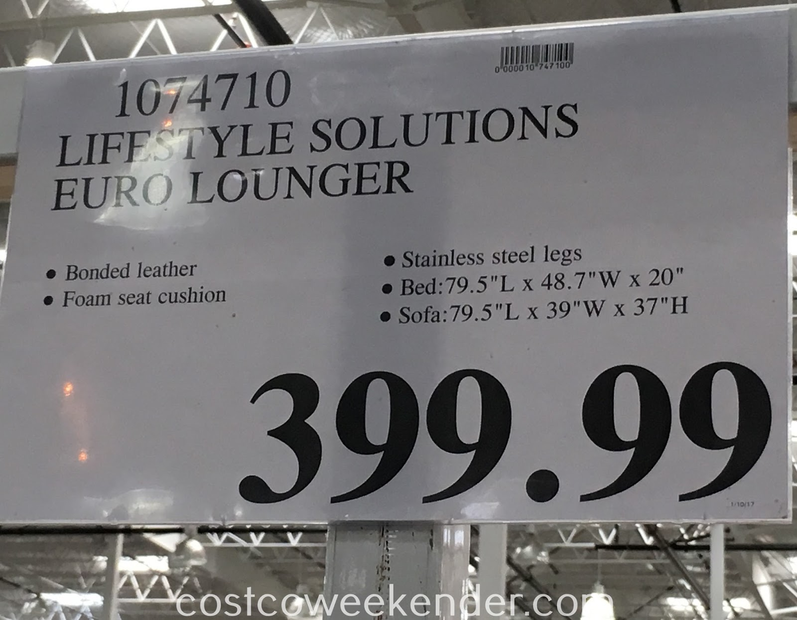 Deal for the Lifestyle Solutions Euro Lounger at Costco