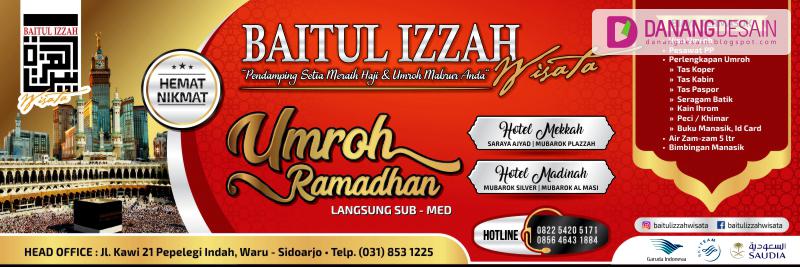 Contoh Desain Banner atau Spanduk Umroh & Haji Plus ...