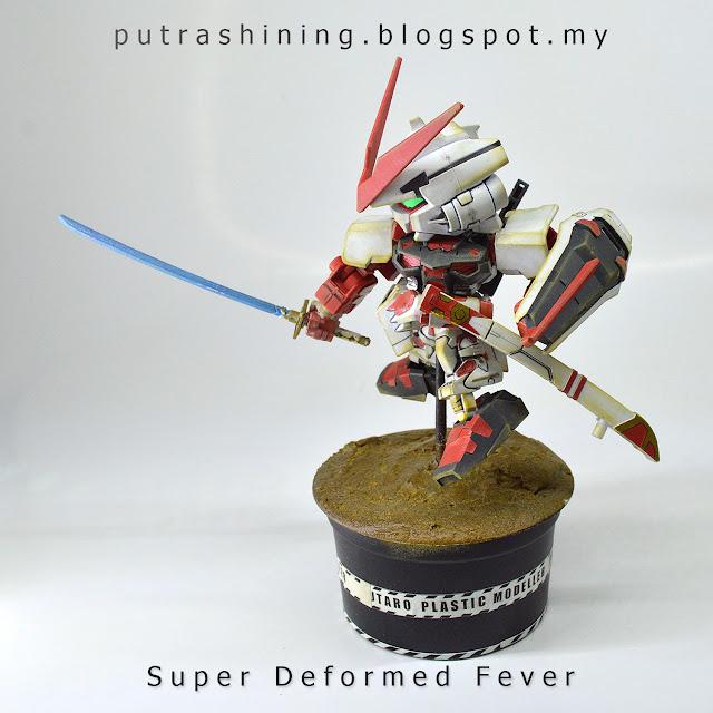 SD Gundam EX-STANDARD Gundam Astray Red Frame custom weather by Putra Shining