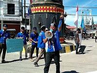 GMKI Cabang Teluk Dalam Gelar Aksi Peduli Aktivis Balik Papan