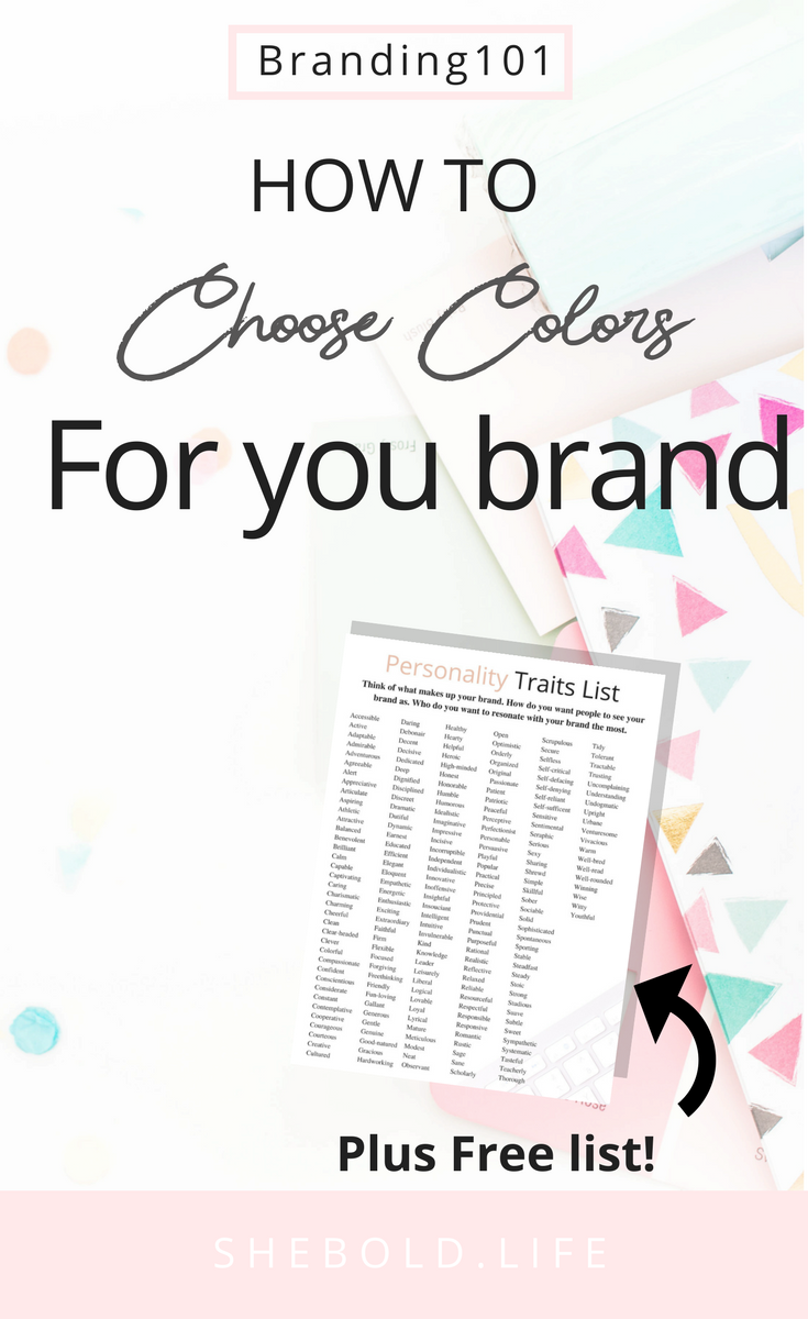 How to choose colors that fit your blog and social media for branding!