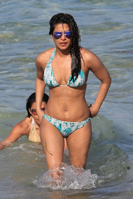 Priyanka Chopra in Bikini at a beach in Miami