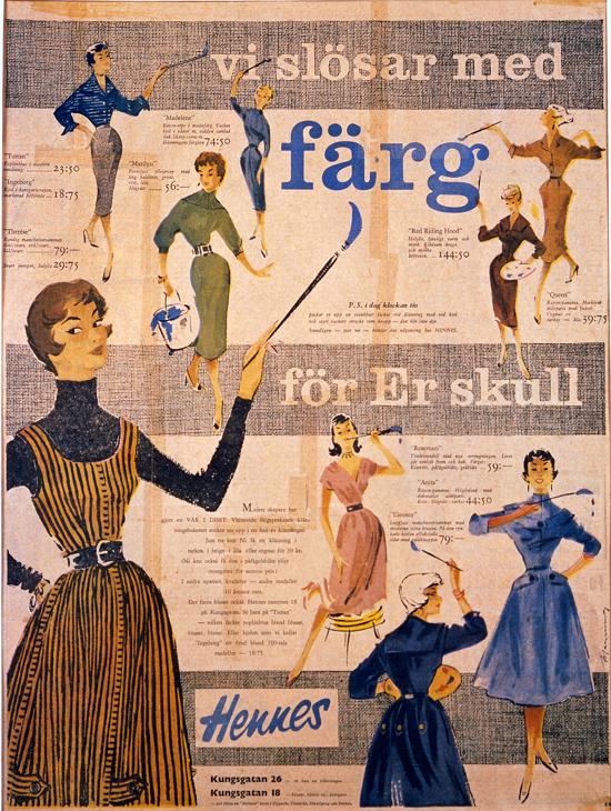 Hennes advertising 1954