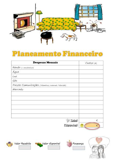 Planear gastos de casa, controlar gastos da casa, planeamento finaneiro