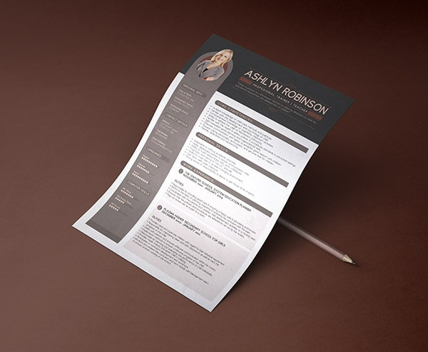 Template Resume CV 2018 - Free Premium Professional Resume (CV) Design Template with Best Resume Format