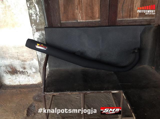 Knalpot Standar RX King SMR Racing Muffler Jogja Hitam Doff
