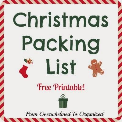 Christmas Packing List Free Printable From Overwhelmed To Organized Christmas Packing List Free Printable