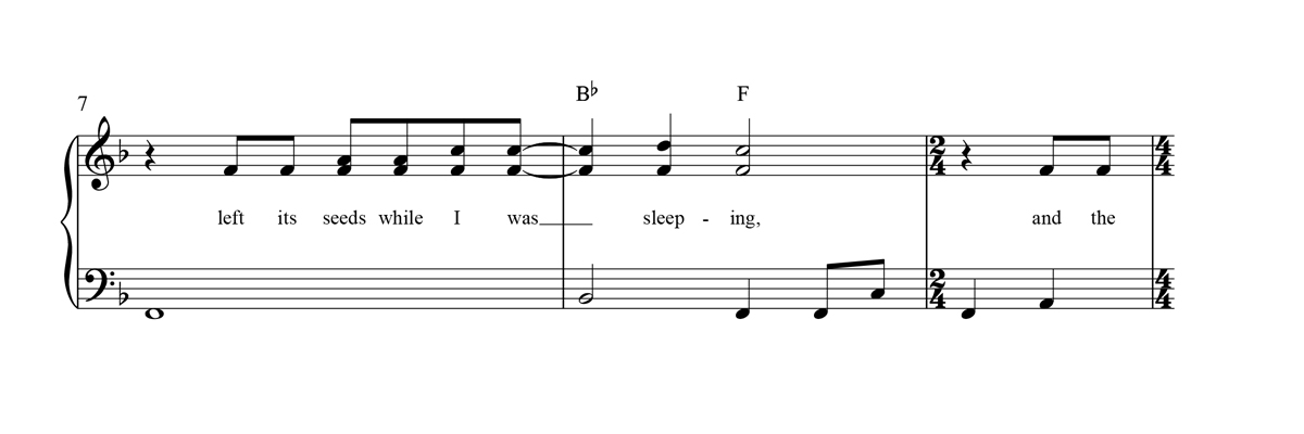 Beginner Piano Sheet Music Notation Sample