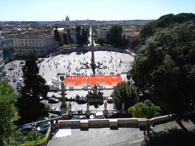 Piazza del popolo dalla terrazza del Pincio-Roma