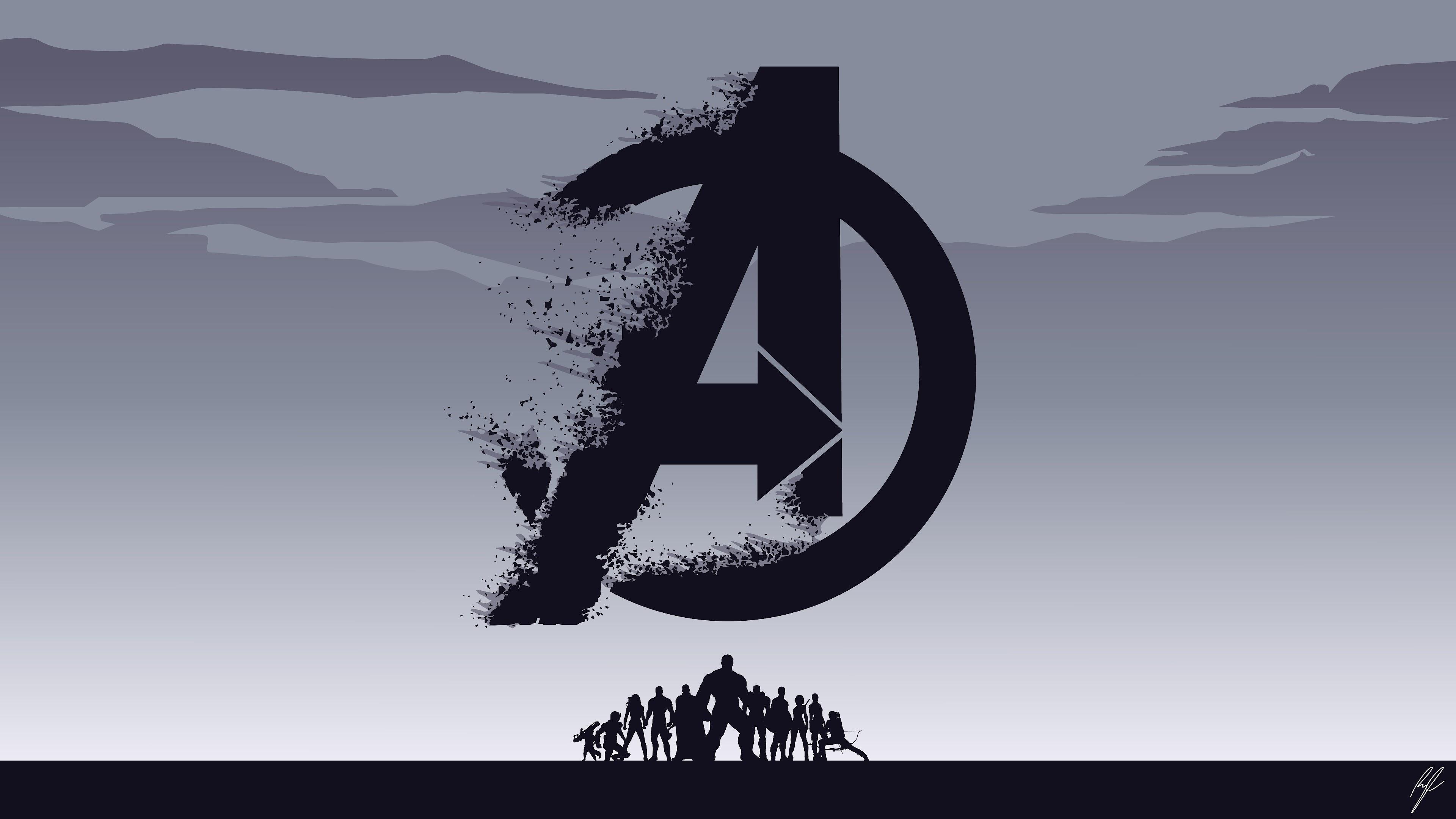 Avengers Endgame Logo Minimalist 8k 70 Wallpaper