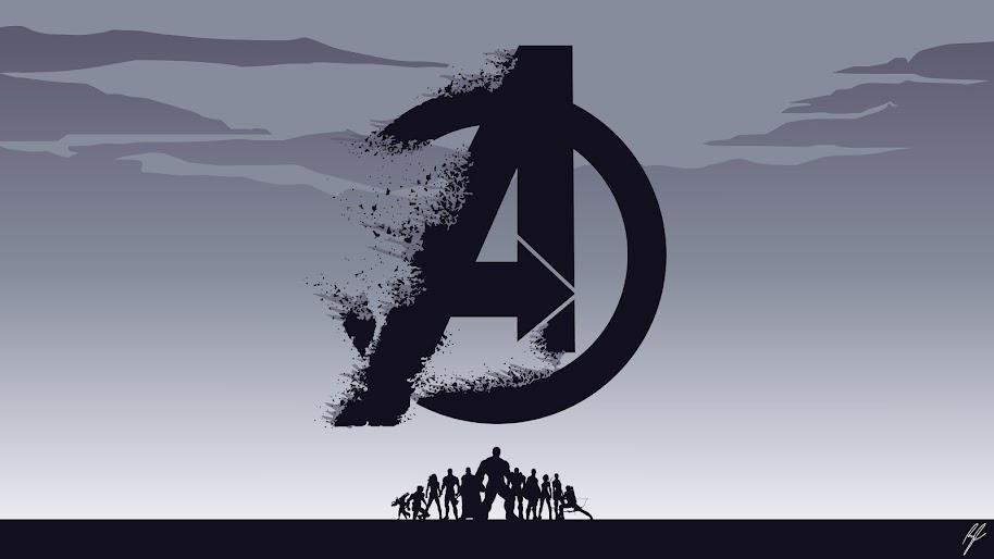 Avengers Endgame Logo Minimalist 8k Wallpaper 70