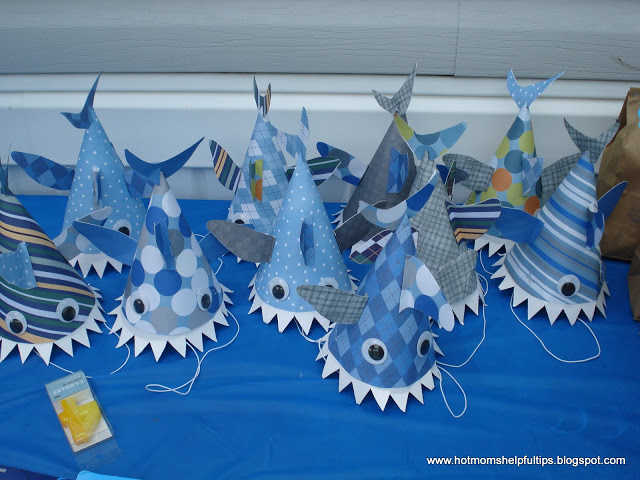 Make a Shark Hat for Baby Shark Song or Shark Week