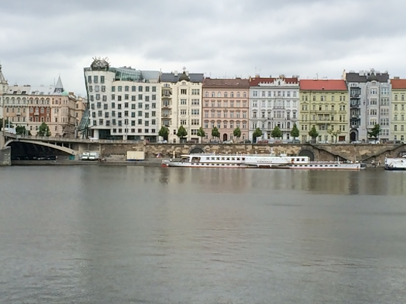 Prague Dancing House from river