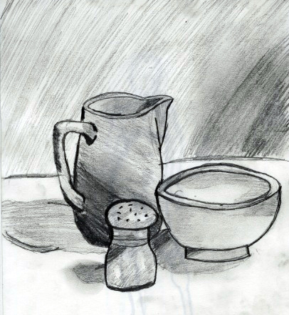 Observational Drawing 2: Composition: Still Life Drawing