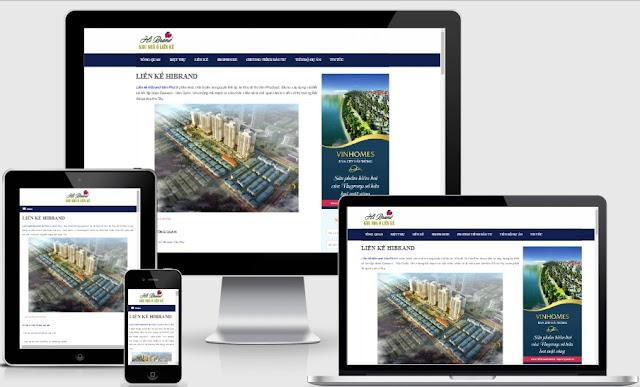Template blogspot bất động sản liền kề hibrand chuẩn seo 2017