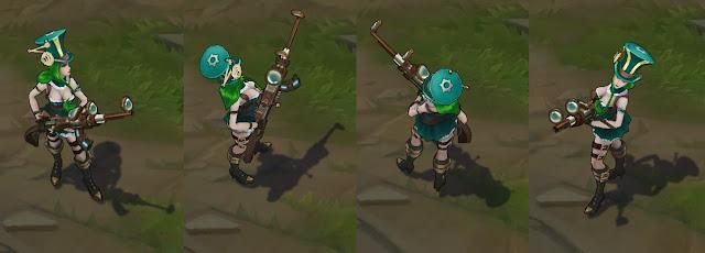 Mod Skin Caitlyn Green Edition
