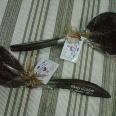 souvenir irus sendok sayur batok, souvenir alat dapur