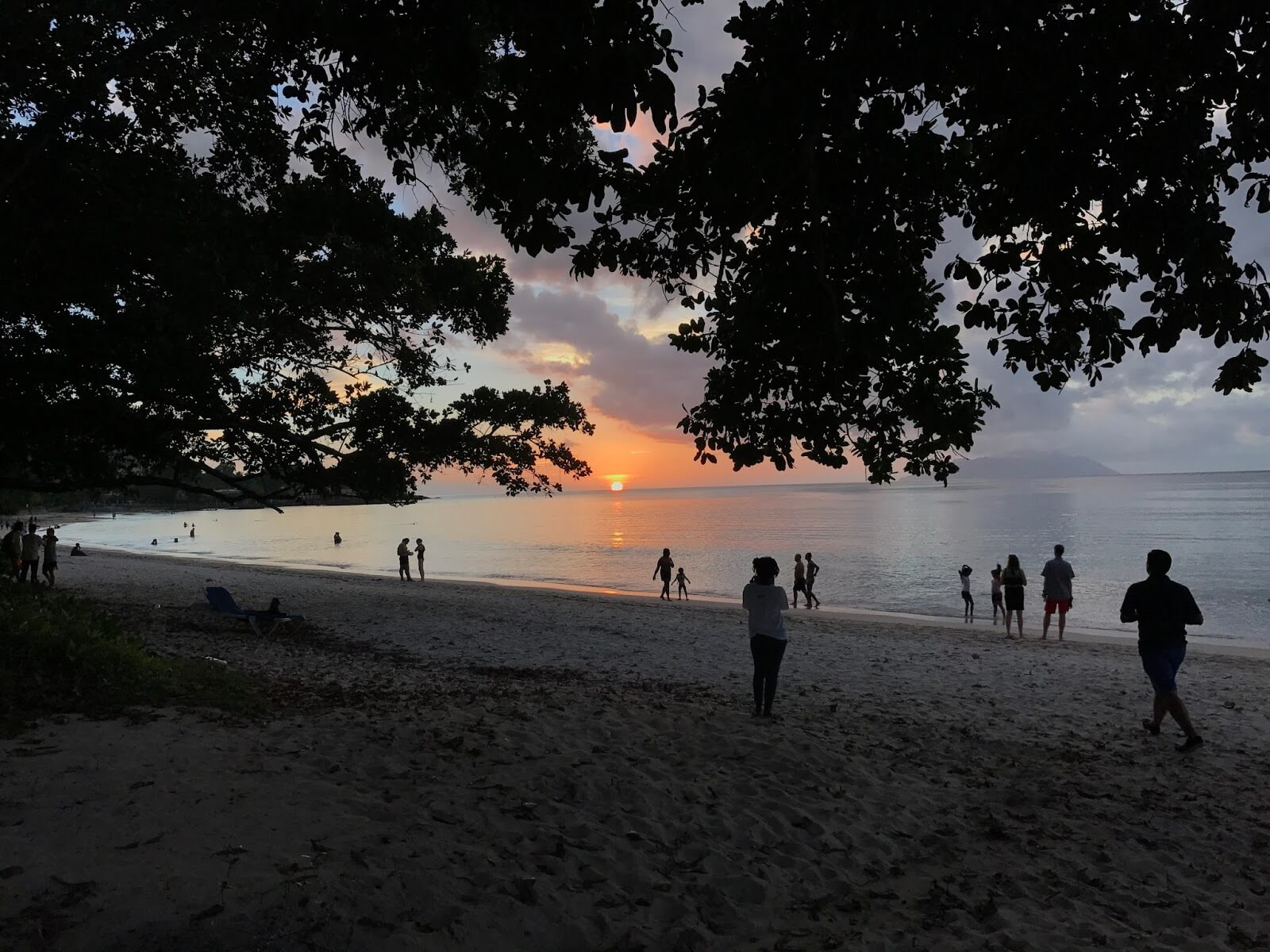 Sunset at Beau Vallon Beach in Seychelles