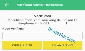 Verifikasi nomor handphone