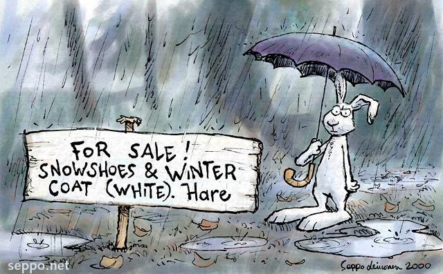 For Sale! Snowshoes & winter coat (white). Hare - Seppo Leinonen