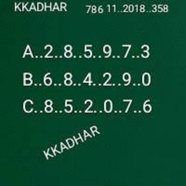 kerala lottery abc all board guessing karunya kr-358 11.08.2018 by KK