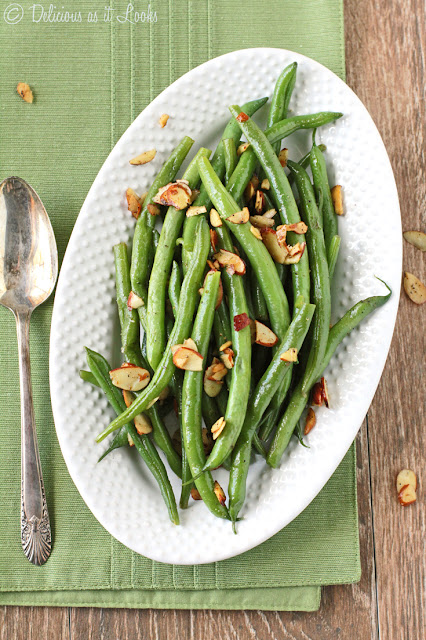 Low-FODMAP Green Beans Almondine  /  Delicious as it Looks