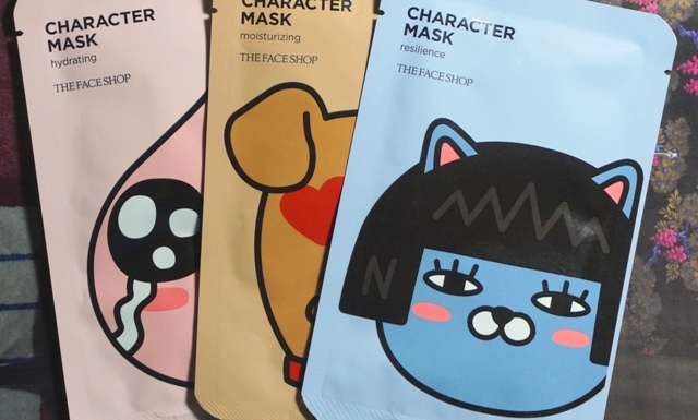 The Face Shop Kakao Friends Character Masks