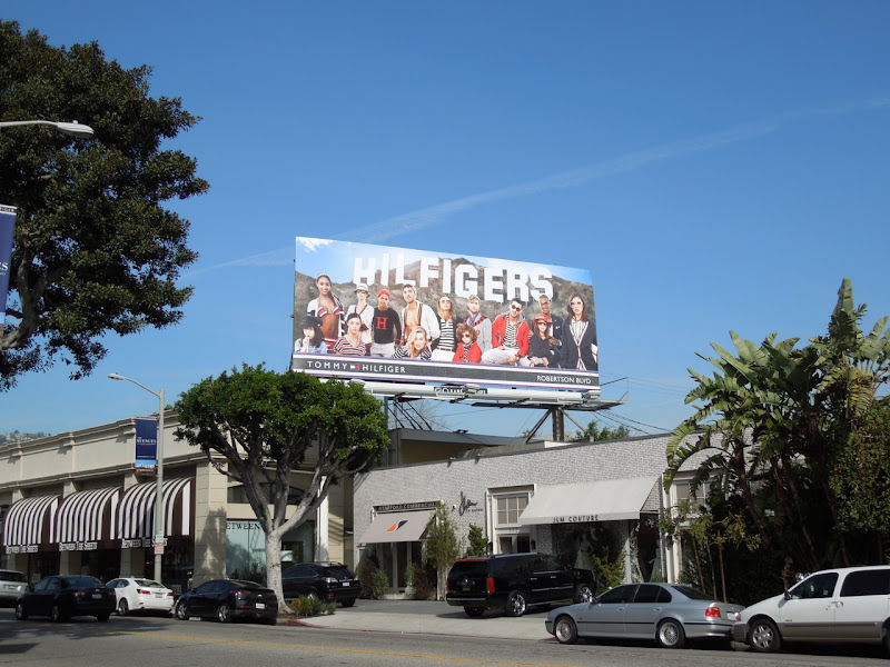 Hilfigers Hollywood Sign billboard
