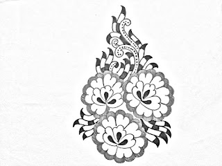 Hand embroidery flower designs drawings for hand embroidery