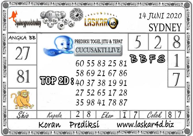 Prediksi Togel SYDNEY LASKAR4D 14 JUNI 2020