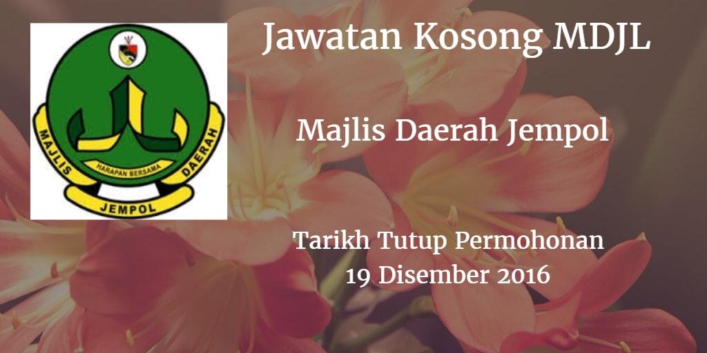Jawatan Kosong MDJL 19 Disember 2016