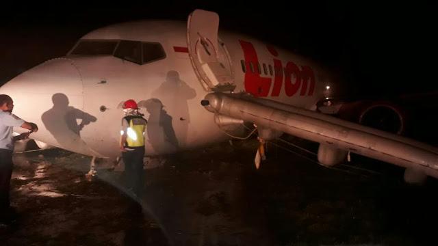 Penumpang Geger, Sayap Pesawat Lion Air Makassar- Gorontalo Alami Insiden