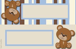Osito con Rayas: Etiquetas para Candy Bar para Imprimir Gratis.