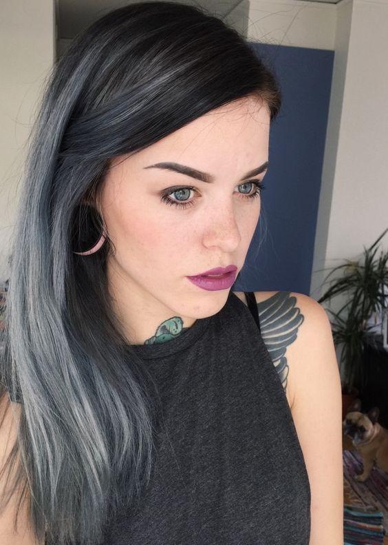 la moda en tu cabello color de cabello gris para mujeres j venes 2016. Black Bedroom Furniture Sets. Home Design Ideas