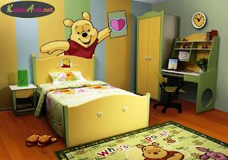 Ide Desain Kamar Anak Tema Winnie the Pooh yang Lucu dan Menggemaskan 2007