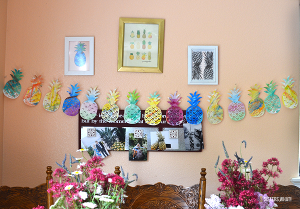 pineapple watercolor garland