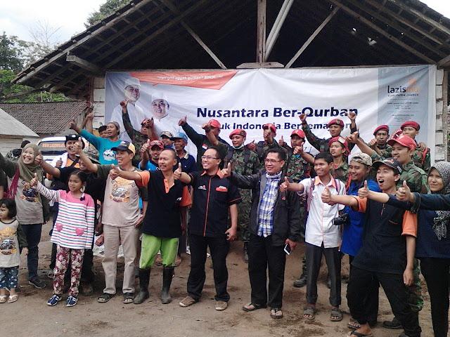 Nusantara Berqurban untuk Indoensia Berkemajuan di Slerok bersama Relawan Kemanusiaan Jember