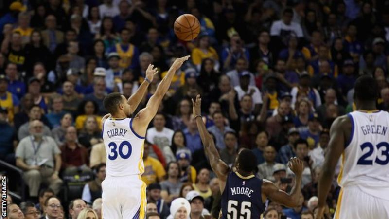 Stephen Curry claimed a record 13 three-pointers in a single game